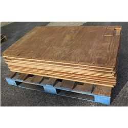 Pallet Multiple Plywood Sheets 48 L x 30  W x 1/2