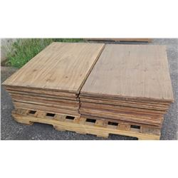 "Pallet Multiple Plywood Sheets 36""L x 24"" W x Mix (1/2"", 5/8"" & 3/4"")"