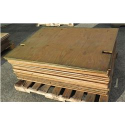 "Pallet Multiple Plywood Sheets 48""L x 36"" W x Mix (3/8"" & 1/2"")"