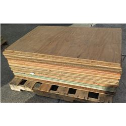 Pallet Multiple Plywood Sheets 48 L x 30  W  x Mix (1/2  & 5/8 )