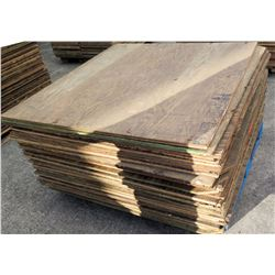 "Pallet Multiple Plywood Sheets 48""L x 48"" W x Mix (5/8"" & 3/4"")"