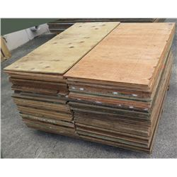 "Pallet Multiple Plywood Sheets 48""L x 24"" W x Mix (5/8"" & 3/4"")"