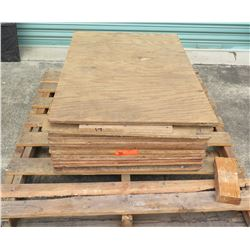 "Pallet Multiple Plywood Sheets 36""L x 24"" W x Mix (5/8"" & 3/4"")"
