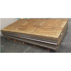 "Pallet Multiple Plywood Sheets 96""L x 48"" W x Mix (3/8"" & 1/2"")"