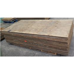 "Pallet Multiple Plywood Sheets 96""L x 48"" W x Mix (1/2"" & 5/8"")"