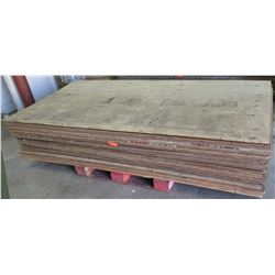 "Pallet Multiple Plywood Sheets 96""L x 48"" W x Mix (1/2"" & 3/4"")"