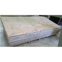 "Pallet Multiple Plywood Sheets 96""L x 48"" W  x Mix (3/8"", 1/2"" & 5/8"")"