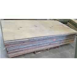 Pallet Multiple Plywood Sheets 96 L x 48  W x 5/8
