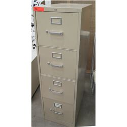 Beige Metal 4 Drawer File Cabinet