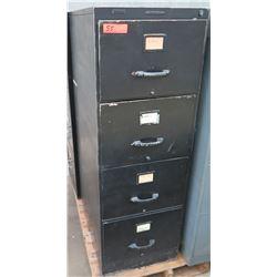 Brown Metal 4 Drawer File Cabinet