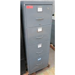Gray Metal 4 Drawer File Cabinet