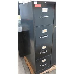 Black Metal 4 Drawer File Cabinet