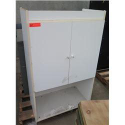 White 2 Door Cabinet w/ Undershelf