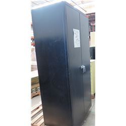 Tennsco Tall Metal 2 Door Storage Cabinet w/ Inner Shelves