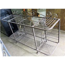 Metal Wire Shelf/Table w/ Swirl Design