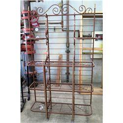 Metal Wire 4 Tier Shelf w/ Swirl Design