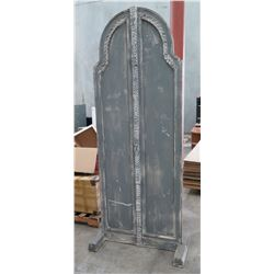 Tall Footed Wooden Arched Backdrop Display w/ Etched Design