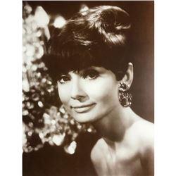 Vintage Audrey Hepburn Sepia Photo Print