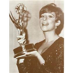 Barbra Streisand Holding Award c.1960's Sepia Photo Print