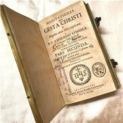 17thc Vellum Bound Latin Book, Meditationes Gesta Christi