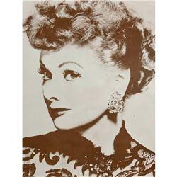Lucille Ball Comedian Actress Sepia Photo Print