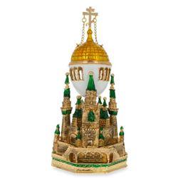 Moscow Kremlin Royal Russian Musical Trinket Box Egg