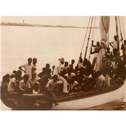 Haitian Migrants Florida Coast 1960's Photo Print