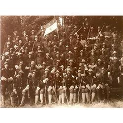African American, Buffalo Soldiers, Spanish American War Sepia Photo Print