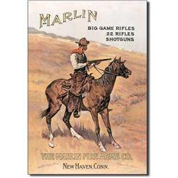 Marlin Cowboy Metal Pub Bar Sign