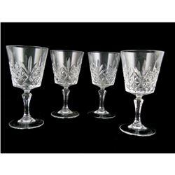 Vintage Set Pineapple Design Cut Crystal Goblets