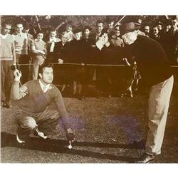 Bob Hope And Bing Crosby Playing Golf c.1940 Sepia Tone Photo Print