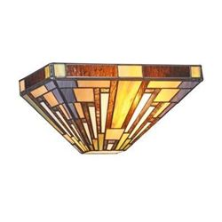 Mission-style Art Glass Sconce