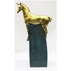 Large Modern Bronze Stallion Horse Sculpture