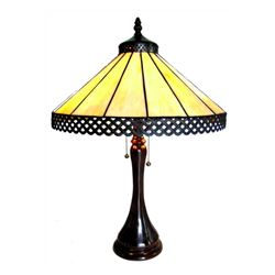 Stained Art Glass Table Lamp