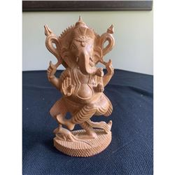 Hindu God Ganesh Elephant Wood Carving