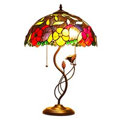 Colorful Stained Art Glass Table Lamp