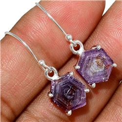 Natural Rough Ruby Stalactites Sterling Silver Earrings