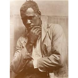 African American History, Thinker, Sepia Photo Print