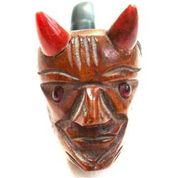 Vintage Italian Figural Devil Head Design Smokers Pipe