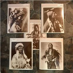 Group of Native American Indian Sepia Tone Photo Prints