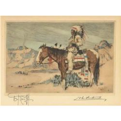 "Joseph Knowles, ""The Sentinel"", Limited Edition Drypoint Etching"
