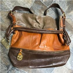 Large Size Leather, Steve Madden, Hobo Bucket, Tote Handbag Purse