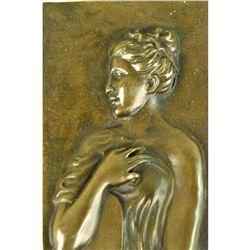 Bronze Bas Relief Wall Sculpture, Roman Water Bearer