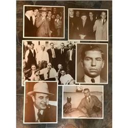 Group of Sepia Photo Prints, Mobsters, Organized Crime