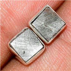 Muonionalusta Meteorite Sweden, Sterling Silver Post Earrings