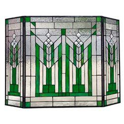 Mission 3pcs Folding Tiffany-glass Fireplace