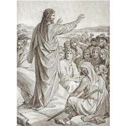 Vintage c1920's half-tone print, #797i Sermon of the Mount