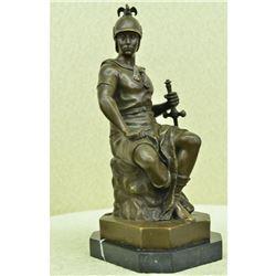 After Picault, Roman God Warrior Bronze Sculpture