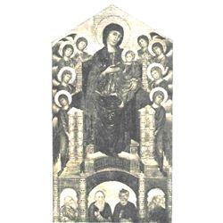 Vintage c1920's Half-tone Print, #202 Madonna with Prophets