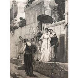 1880's Photogravure Print, Ancient Pompeii
